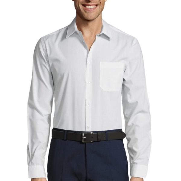 CHEMISE HOMME POPELINE MANCHES LONGUES - BALTIMORE FIT