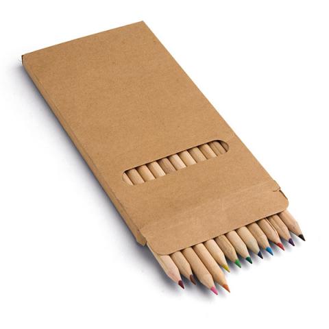 Boîte avec 12 crayons de couleur. - 91746