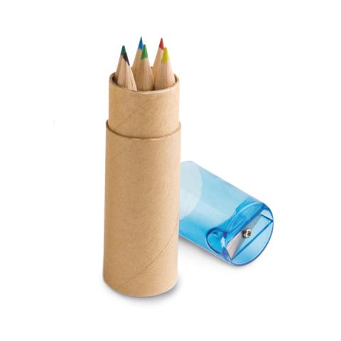 Boîte avec 6 crayons de couleur. - 91751
