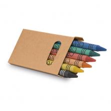 Boîte avec 6 crayons de cire. - 91754