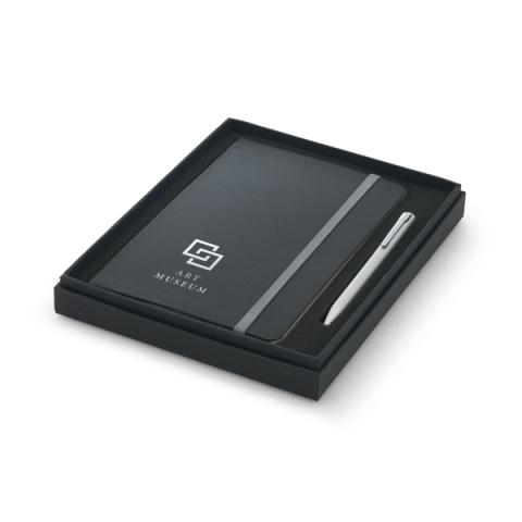 Coffret stylo à bille et bloc-notes. - 93714