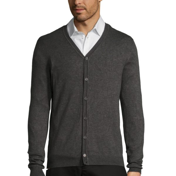 CARDIGAN HOMME COL V - GRIFFITH