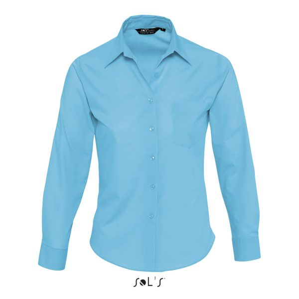 CHEMISE FEMME POPELINE MANCHES LONGUES - EXECUTIVE